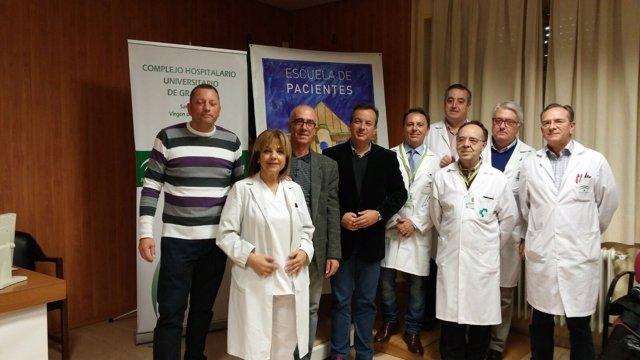 Personas ostomizadas en las jornadas de cuidados en Granada.