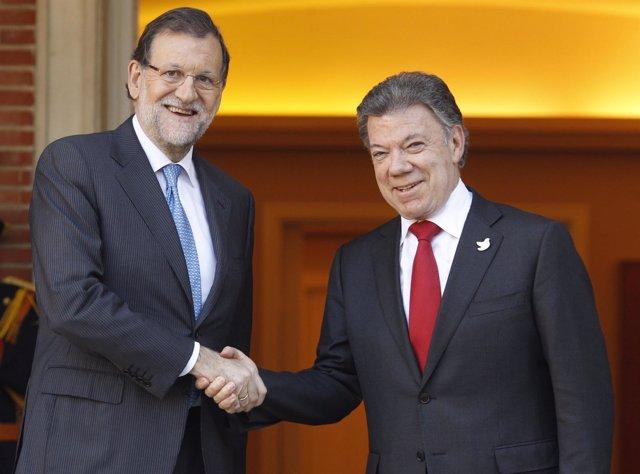 Mariano Rajoy y Juan Manuel Santos en la Moncloa