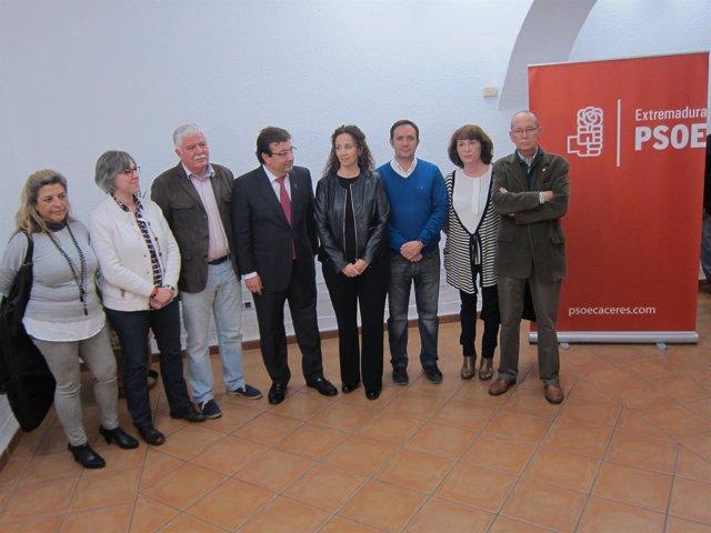 Presentación candidatos PSOE por la provincia de Cáceres