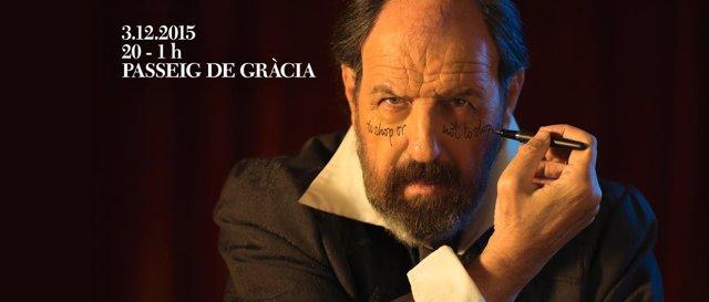 El actor Josep Maria Pou en la promoción de The Shopping Night Barcelona