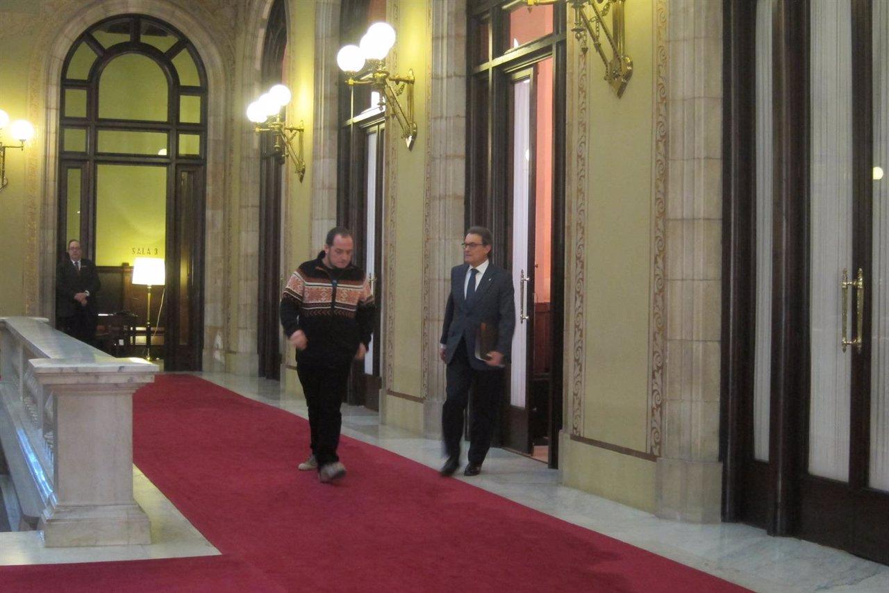 Artur Mas y David Fernández (Archivo)