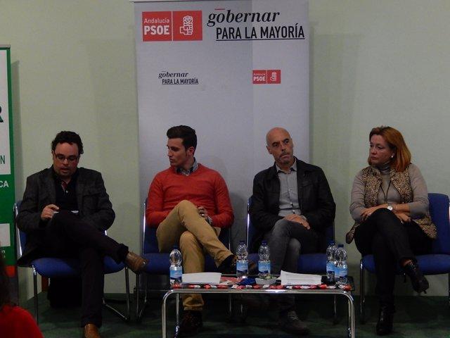 Rojas, Torralbo, Hurtado y Durán, en la reunión