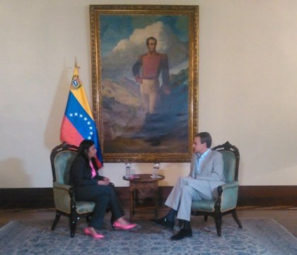 Delcy Rodríguez se reúne con el expresidente español José Luis Rodríguez Zapatero