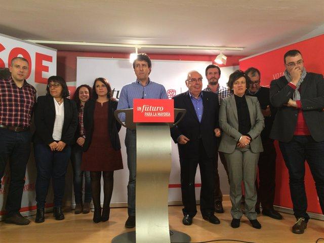Los candidatos al Congreso y al Senado por el PSOE