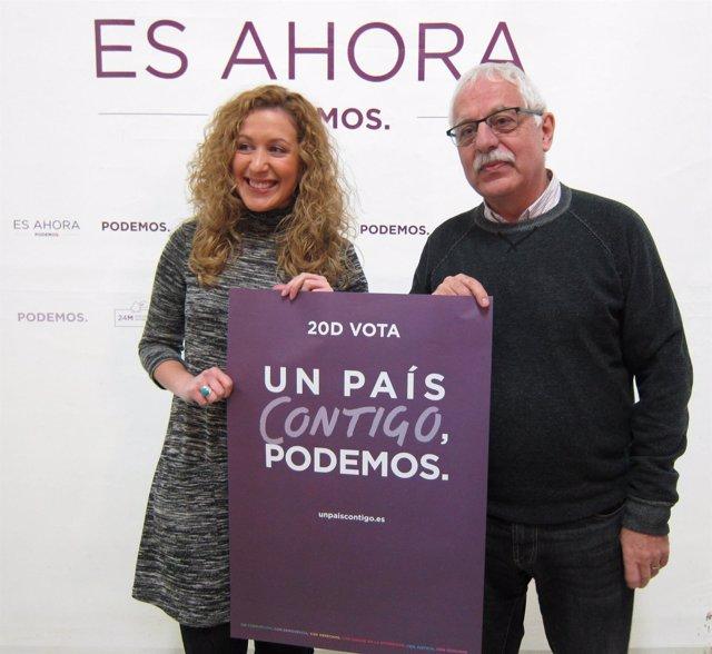 Inicio de campaña con Carreño y Aguirre de Podemos