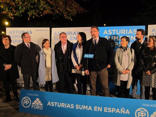 Inicio de campaña de PP-Foro en Oviedo