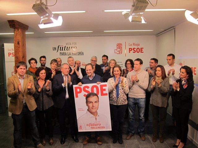 Inicio de campaña del PSOE en Logroño