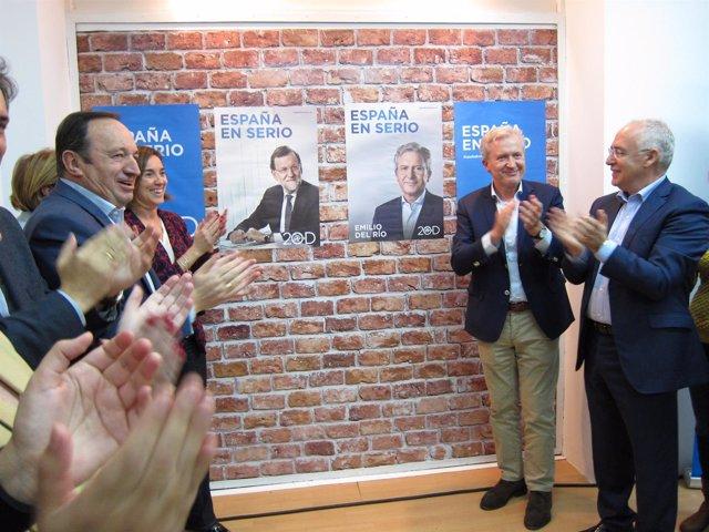 Inicio de campaña del PP de La RIoja con Del Río, Sanz, Ceniceros y Gamarra