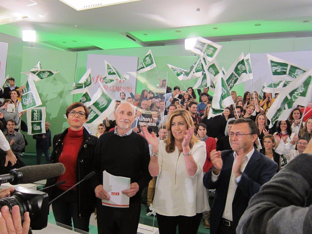 Susana Díaz abre la campaña en Málaga
