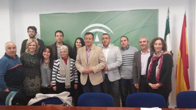 Equipo de trabajo de la Junta de Andalucía en Granada.