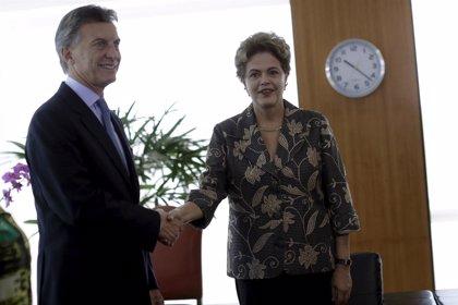 Macri se reúne con Rousseff para fortalecer relaciones comerciales y políticas