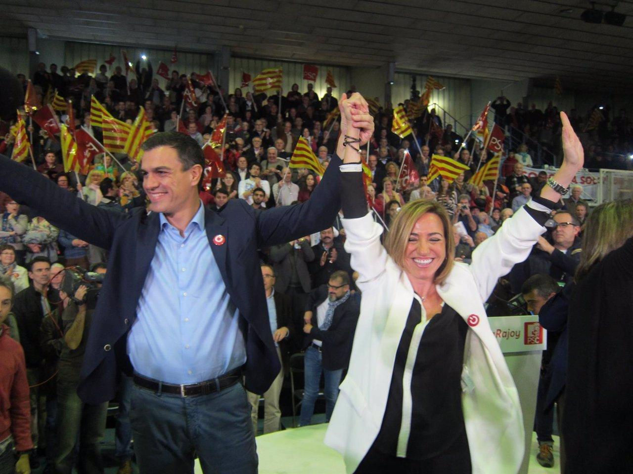Pedro Sánchez (PSOE) Carme Chacón (PSC)