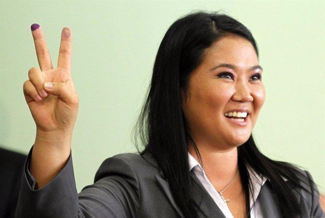 La líder de Fuerza Popular, Keiko Fujimori.