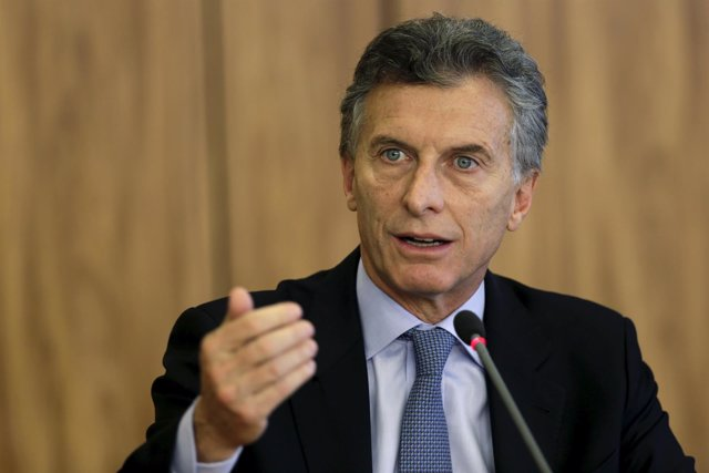 Argentina's President-elect Mauricio Macri speaks during news conference after a