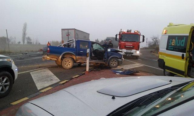 Accidente de tráfico en Mallén.