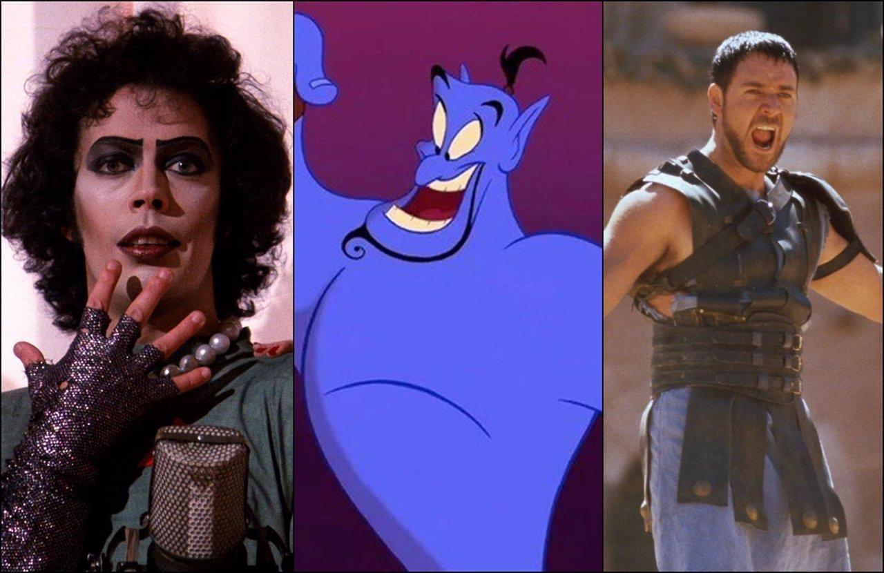 The Rocky Horror Picture Show, Aladdin, Gladiator Gazapos