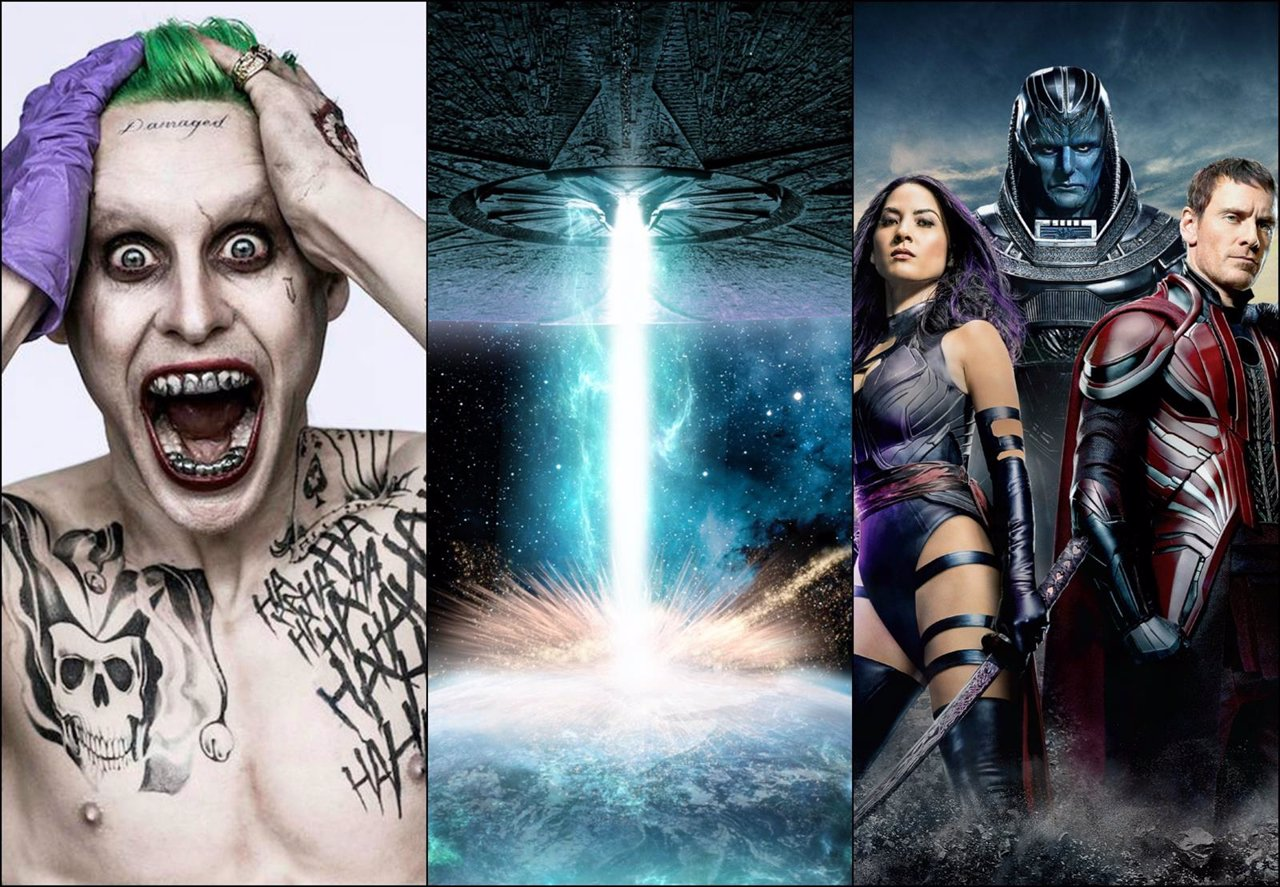 Escuadrón Suicida, Independence Day y X-Men: Apocalypse