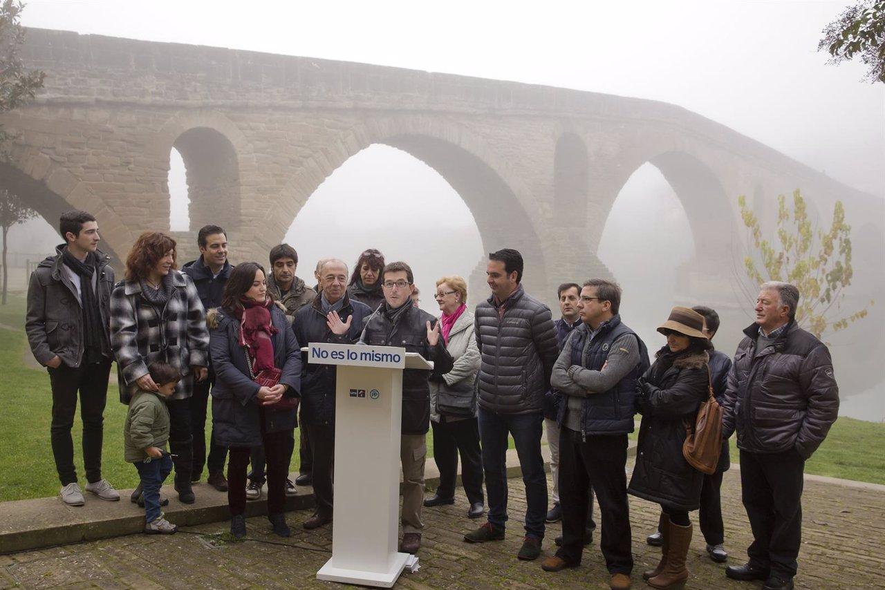Los candidatos de la coalición UPN-PP en Puente la Reina