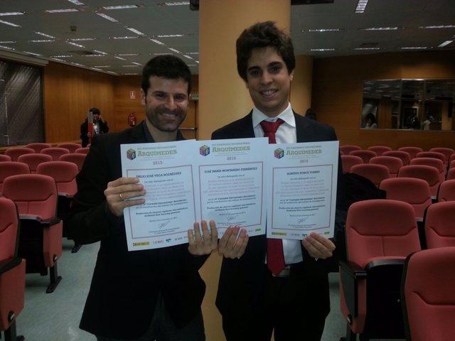 Alberto Ponce Torres con su profesor