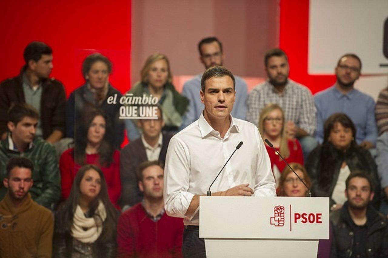 El candidato del PSOE al Gobierno, Pedro Sánchez.