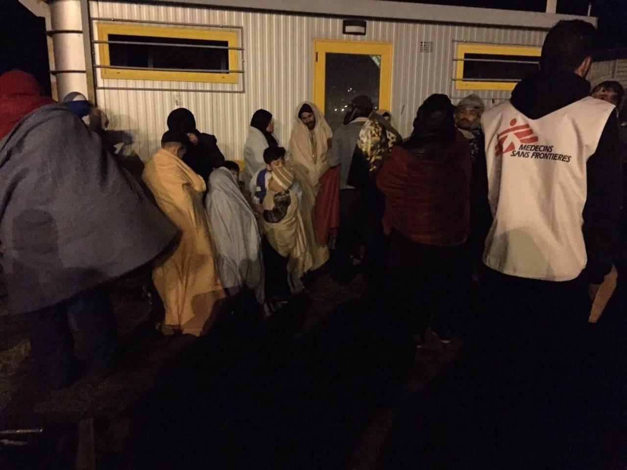 Inmigrantes rescatados diciembre 2015 mediterráneo