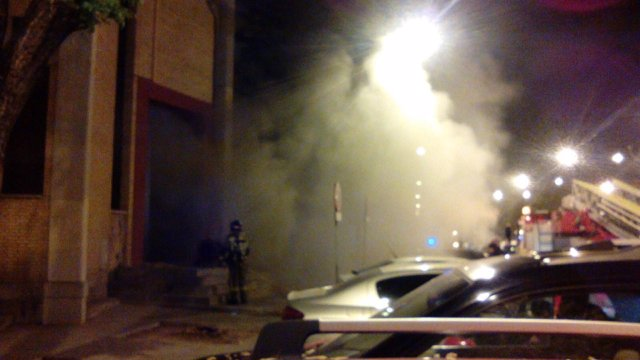 Incendio en parroquia de los Desamparados de Alcosa, en Sevilla