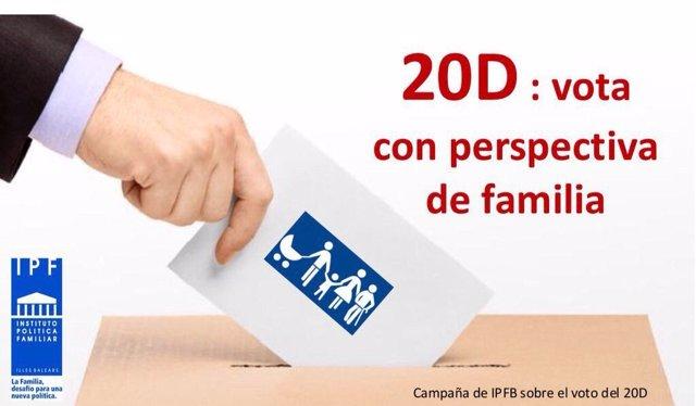 "Campaña IPFB ""vota con perspectiva de familia"""