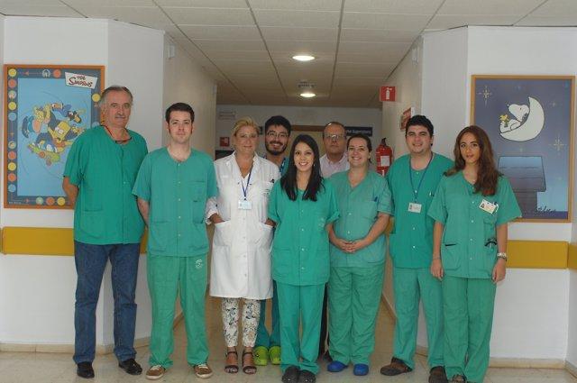 Especialistas de cirugía pediátrica