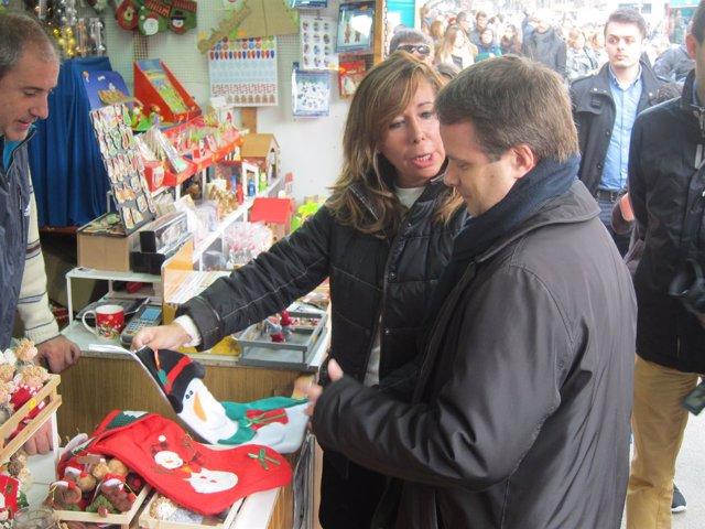 Camacho (PP) en la Feria de Sagrada Família