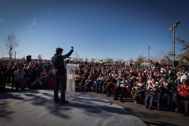 Garzón en un acto en Alcalá de Henares