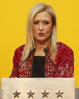 Cristina Cifuentes en la sede la Comunidad de Madrid