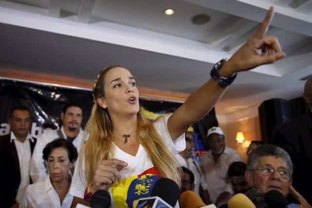La opositora venezolana Liliam Tintori