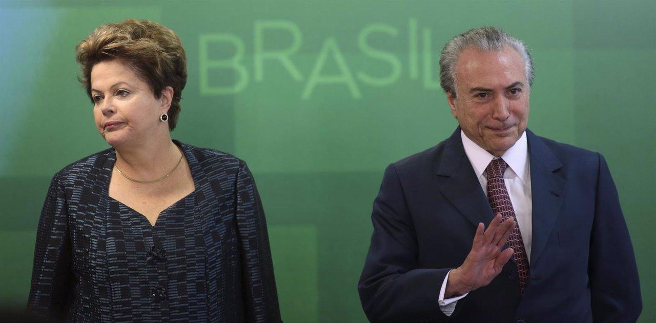Rousseff y el vicepresidente Temer