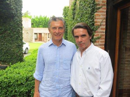 El expresidente Aznar se reúne con Macri para darle su apoyo