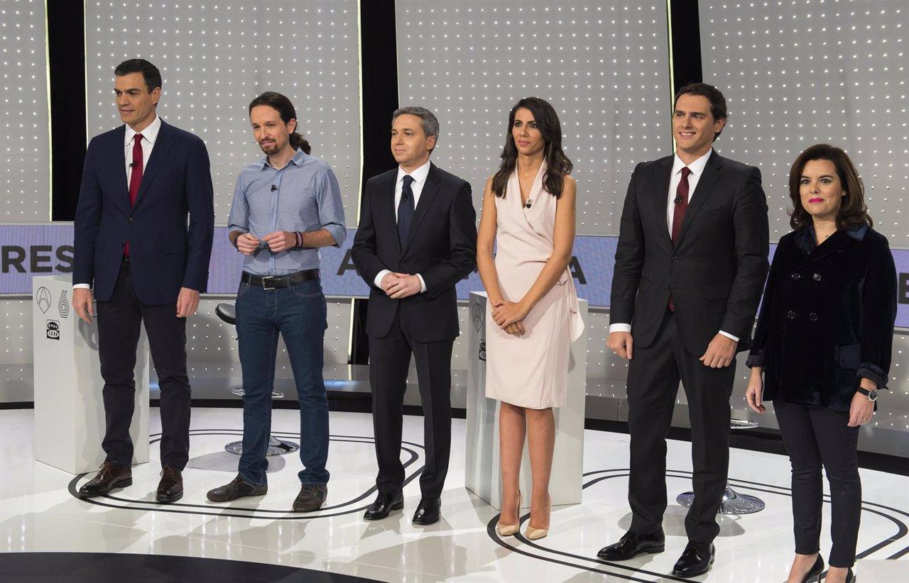 Sánchez, Iglesias, Rivera y Sáenz de Santamaría