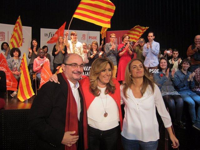 Lambán, Díaz y Sumelzo, este martes en Zaragoza
