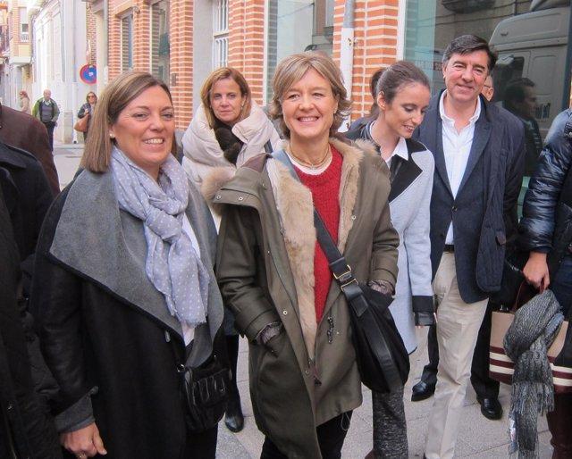 Milagros Marcos Junto A García Tejerina En Peñaranda De Bracamonte (Salamanca)