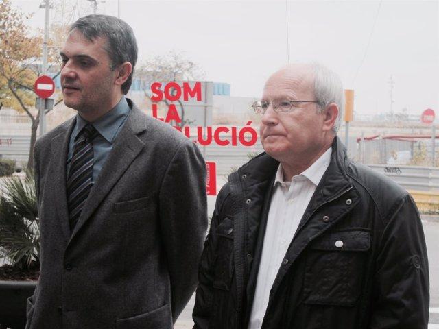 Carles Martí y José Montilla, PSC