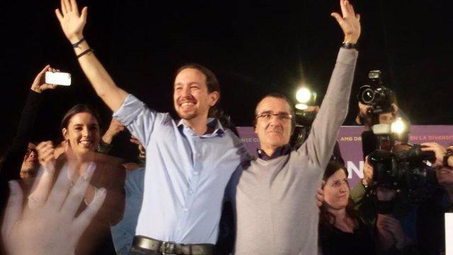 Pablo Iglesias y Juan Pedro Yllanes