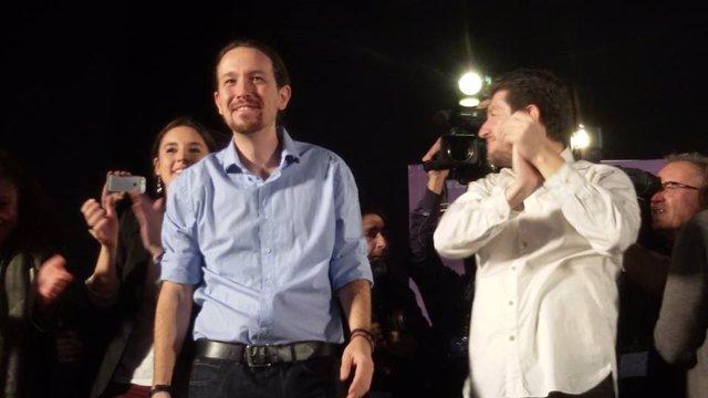 Pablo Iglesias (Podemos) en un mitin en Palma de Mallorca