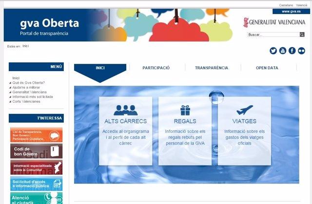 Portal de Transparencia Generalitat valenciana