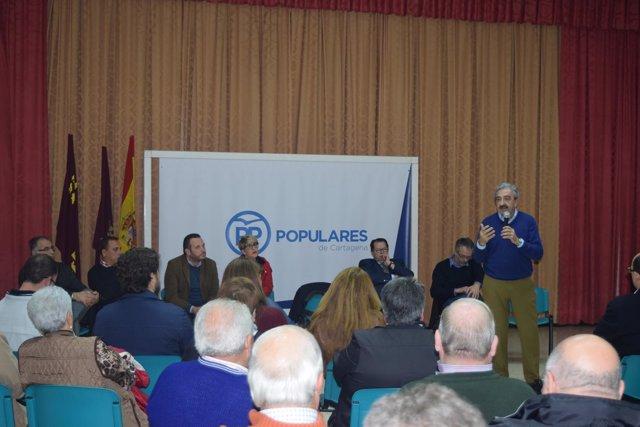 El candidato al Congreso del PP, Andrés Ayala, durante el acto