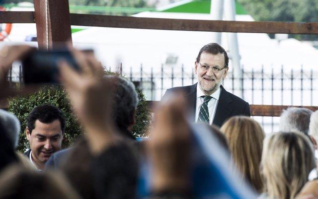 Mariano Rajoy, mitin campaña electoral en Sevilla con Juanma Moreno PP