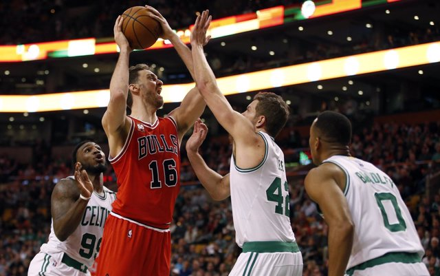 Pau Gasol en el Chicago Bulls - Boston Celtics