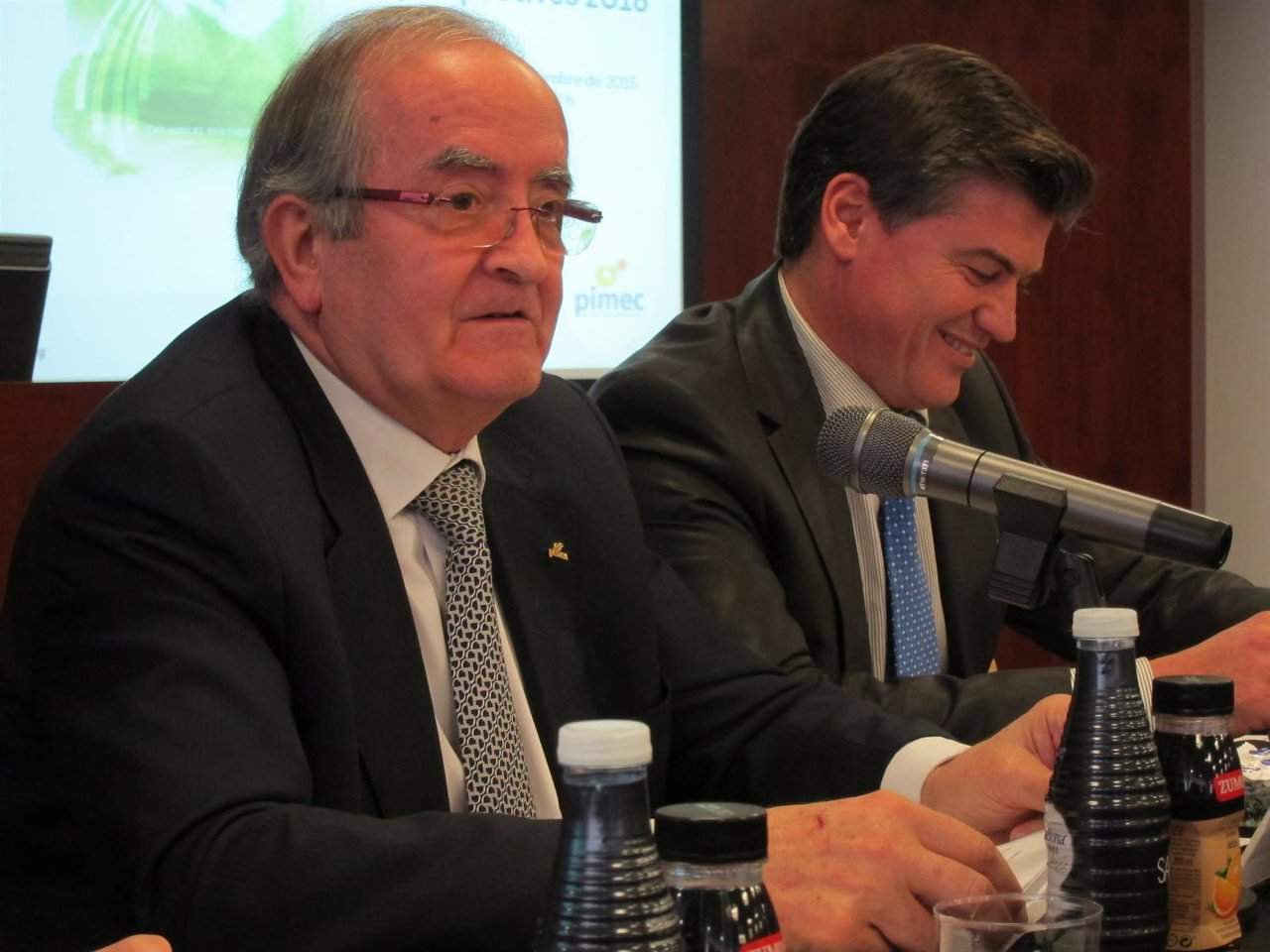 El pte. De Pimec J.González y secr.Grl. A.Cañete