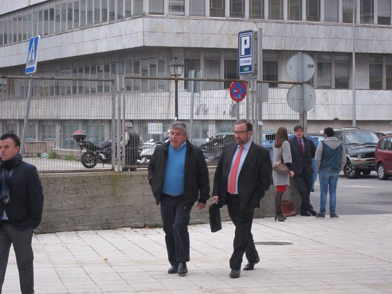 El el exedil José Ángel Valverde en juzgados de Vigo.