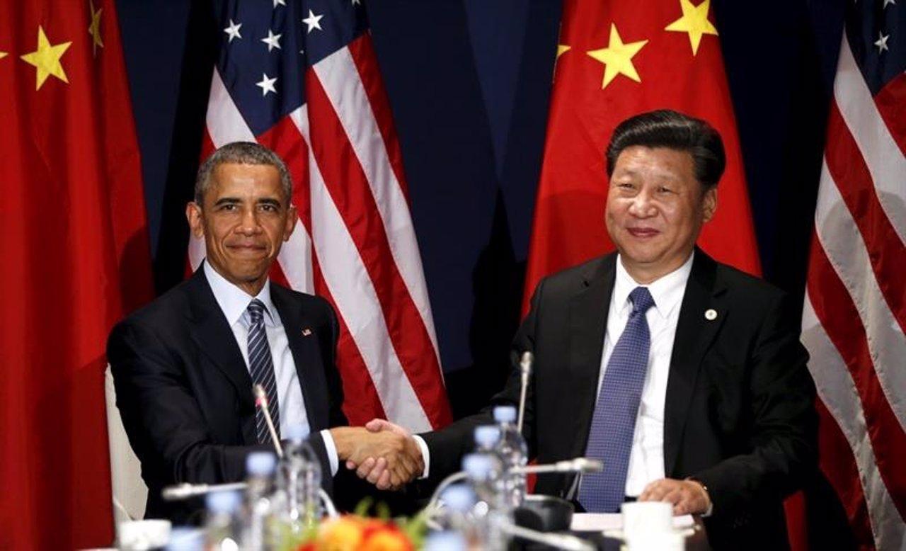 El presidente de EE.UU, Barack Obama y el de China, Xi Jinping