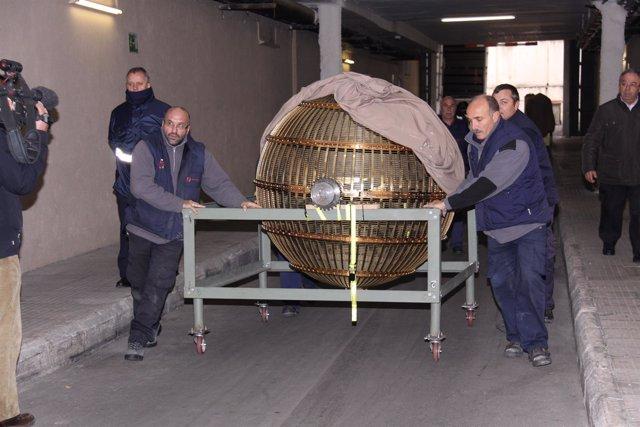Los Bombos Que Repartirán La Suerte En El Sorteo De La Navidad Llegan A Madrid
