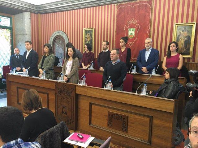 Sesión plenaria celebrada en el Ayuntamiento de Burgos.