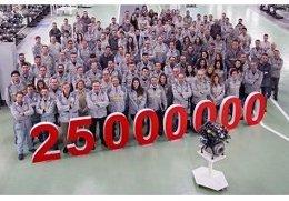 Imagen del motor 25 millones producido en Valladolid
